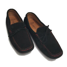 Tod's for Ferrari Black Red Suede Womens Driving Mocs Shoes Loafers Size 10 Nice