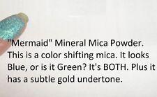 """Mermaid"" Mineral Mica Powder Eye Shadow ~ Duo Chrome blue/green ~ Vegan"