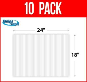 """10 pack WHITE BLANK 18"""" x 24"""" Plastic Corrugated 4mm Political Yard Signs Coro"""