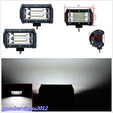 2 X 5Inch 72W Aluminium 24LED 6000K Car Working Lights Strip Flood Driving Lamps