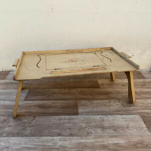 Vintage wooden  FRENCH Breakfast in Bed Tray Table Reading Lap Desk 2307219