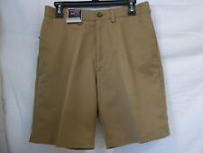 Roundtree & Yorke 30 Chino Flat Front Classic Fit Expander Waist New Men Shorts