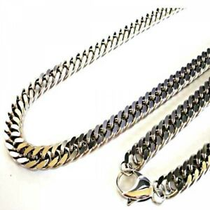 """Luxury Pure Titanium Curb Chain Necklace Allergy Free W0.39"""" Japan with Tracking"""