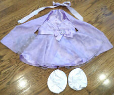 Build a Bear Outfit Set Fancy Ball Gown Dress with Shaw & White Shoes Purple