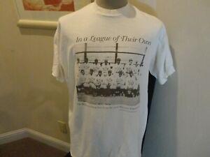 Vtg Off White Baltimore Black Sox PHOTO Negro Leagues Baseball T-shirt 2XL Rare