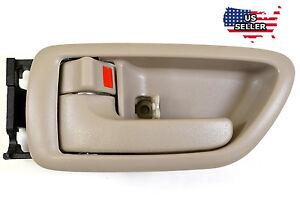 Inside Beige/Tan Left Driver Door Handle for 01-07 Sequoia 04-06 Tundra Crew Cab