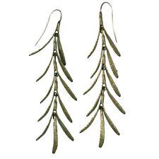 Rosemary Long Dangle Wire Earrings - (bronze) By Michael Michaud 4415BZ