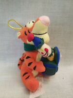Disney Store Candy Cane Tigger with Toy Plush Christmas Ornament 2000 with Tag