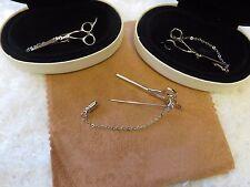 Silver Scissors Pin Brooch Hair Stylists Jewelry Salon Hairdresser Gift