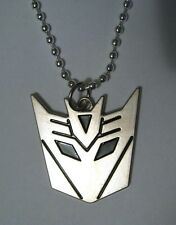 Decepticon Transformers Logo STAINLESS STEEL Pendant Necklace the last knight