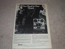 Akai GX-365 Open Reel Deck Ad, 1972,Article,Features