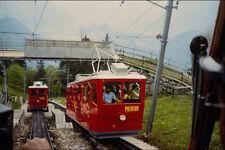 578063 Tren ascendente en 2000 ft Mt Pilatus Suiza A4 Foto Impresión
