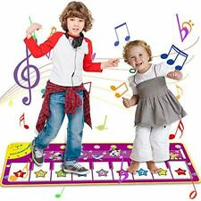 Angusiasm Toys for 1-8 Year Old Girls Boys-Piano Keyboard Dancing Mat,Electronic