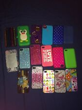 For iPhone 4 Girly Cases. Mostly hard plastic, couple silicone.