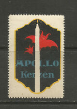 APOLLO Candles advertising stamp/label (German text)