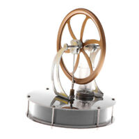 Stirling Engine Model Flywheel Running Heat Experiment Hot Air Science Toy