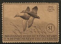 US Scott #RW7, Single 1940 Duck Stamp $1 FVF MNG