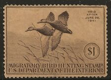 US Scott #RW7, Single 1940 Duck Stamp FVF MNG