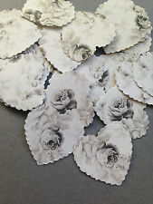 100 VINTAGE SHABBY CHIC NEUTRAL ROSE PAPER WEDDING TABLE CONFETTI DECORATIONS