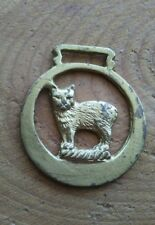 Vintage rare design animal watch fob with wear.