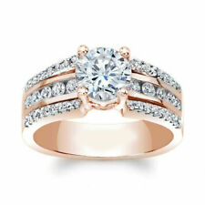 2.50 Ct Round Cut Engagement Ring 14k Solid Gold