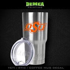 Oklahoma State Cowboys - Yeti/Rtic/Yeti Rambler/Tumbler/Coffee Mug-Decal-Orange