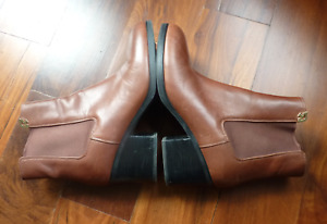 Tory Burch brown leather ankle boots size 10.5