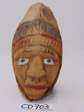 VINTAGE MEXICAN FOLK ART HAND CARVED MAN FACE RARE TIKI BAR-MAN CAVE