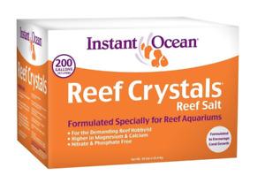 Instant Ocean Reef Crystals Aquarium Sea Salt for Reef Saltwater Aquariums, 200g