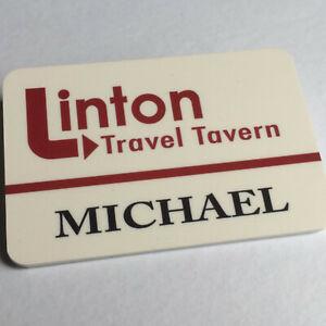 Michael - LINTON TRAVEL TAVERN - I'm Alan Partridge - Staff Name Badge - Glossy