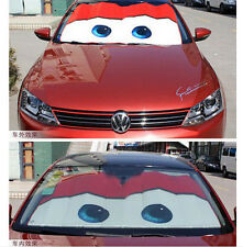 4Colors Disney Pixar Cars Lightning McQueen Front Car Windshiel Sun Shade Visors