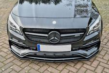 For Mercedes A45 Front Bumper Lip Cup Skirt Lower spoiler Chin Valance Splitter