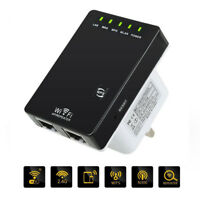 300Mbps Wifi Repeater Wireless-N 802.11 Router Extender Signal Booster Range UQ