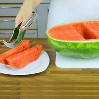 Watermelon Knife Fruit Cutter Slicer Multifunction Messer Paring Tool Salad Tong