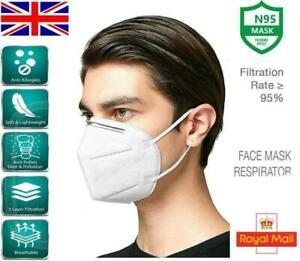 FFP2 N95 FACE MASKS, POLLEN, DUST PROTECTION, NON MEDICAL SURGICAL, 1 - 50 PCS