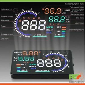 """New A8 5.5"""" Head Up Display OBD2 Windscreen Dashboard Projector For Audi A5 A6"""