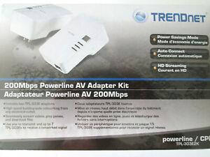 Brand New Trendnet TPL303E2K Powerline 200 AV Adapter Kit