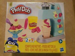 New Hasbro Play-Doh Mini Ice Cream Play Set With 2 Non-Toxic Play-Doh Colors