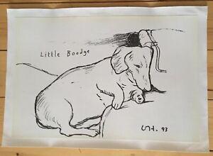 Linen Backed Original David Hockney 1993 Poster Print Signed In The Plate.