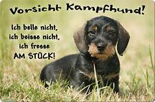 DACKEL Teckel - A4 Metall Warnschild Hundeschild SCHILD Türschild - DCK 22 T11