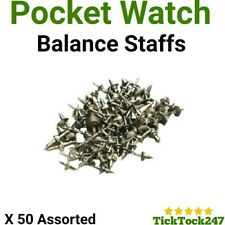 50x POCKET WATCH BALANCE STAFFS vintage spares/parts mixed lot watchmaker repair