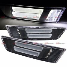 BLACK FRONT BUMPER LED SIDE MARKER LIGHT LAMP FITS FOR 03-07 INFINITI 2DR COUPE