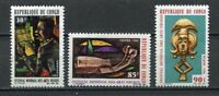 37990) Congo Rep.1966 MNH Intl. Negro Arts Festival 3v