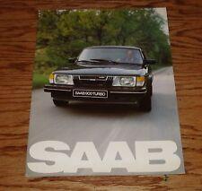 Original 1982 Saab 900 Deluxe Sales Brochure 82 Turbo S
