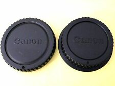 Camera SLRs Body Cap + Rear Lens Cap for Cannon DSLR EOS Mount
