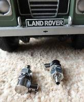 Series 1 2 Chrome/brass Lucas/Tudor Land Rover WSB136 Windscreen Washer Jets x2