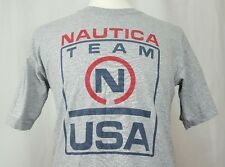 VTG Nautica T Shirt 90's Spell Out USA Competition Small Scuba