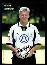 Andrzej Juskowiak Autogrammkarte VFL Wolfsburg 1999-00 Original Sign+A 117173