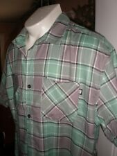 NWT ECKO UNLTD MULTI-COLOR S/S FULL BUTTONED DRESS SHIRT SZ:3XB 3XL 3X