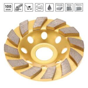 "New 4"" 100mm Diamond Segment Grinding Concrete Cup Wheel Disc Granite Stone"